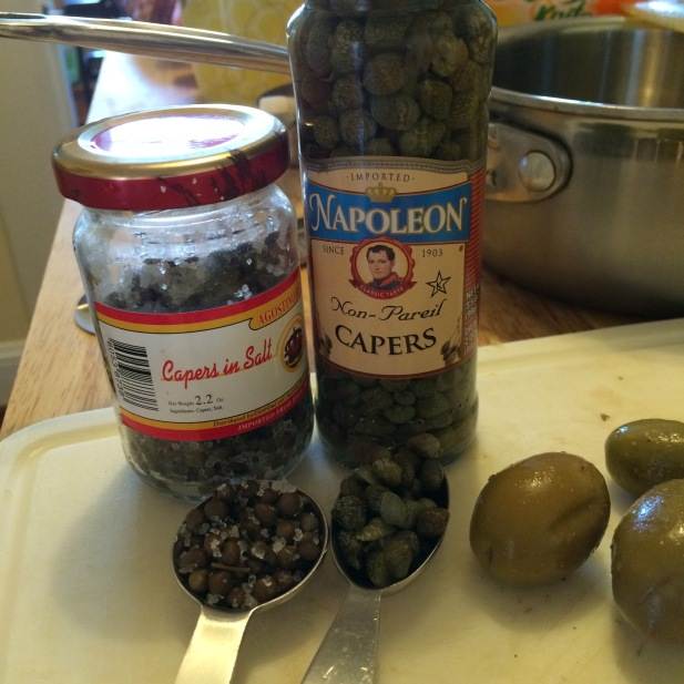 salt-cured and vinegar brined capers